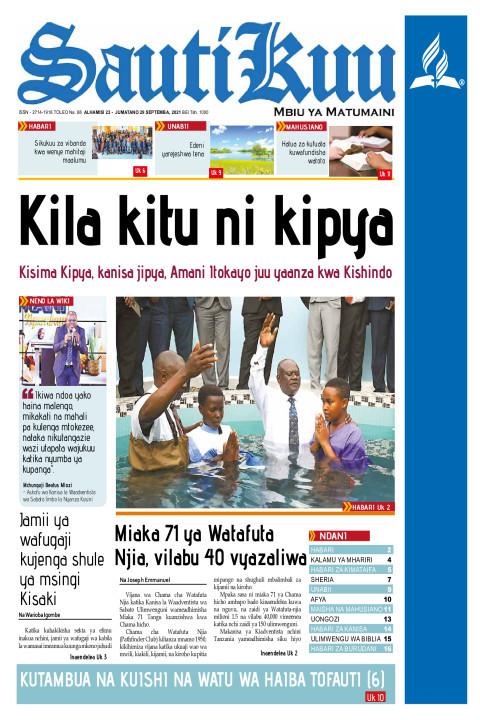 KILA KITU NI KIPYA | Sauti Kuu Newspaper