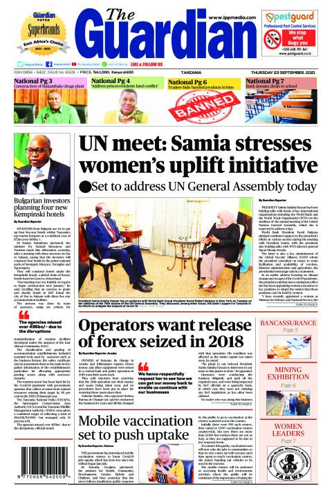 UN meet: Samia stresses women's uplift initiative  | The Guardian