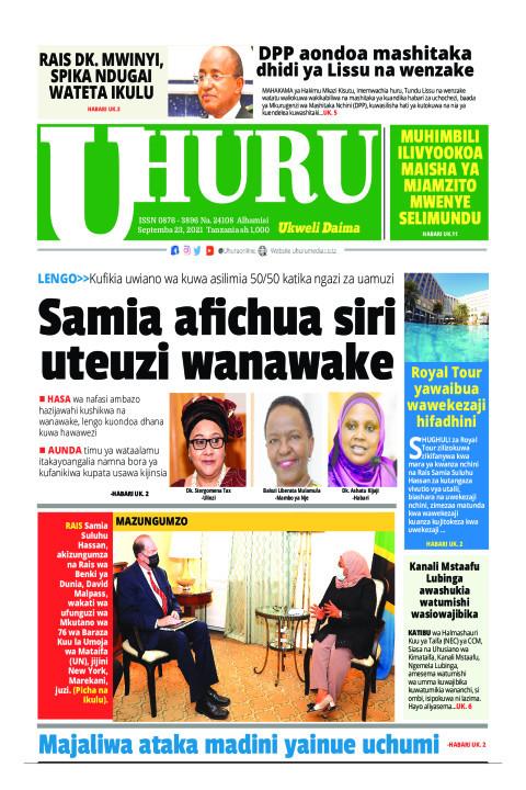 Samia afichua siri uteuzi wanawake | Uhuru