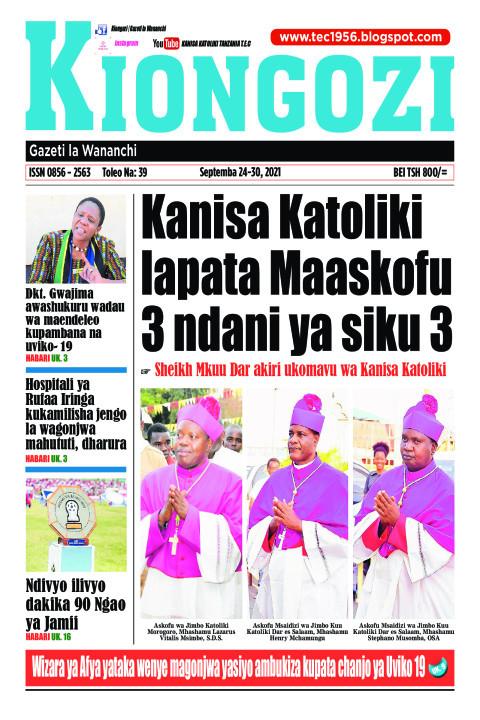 Kanisa Katoliki lapata Maaskofu 3 ndani ya siku 3 | Kiongozi