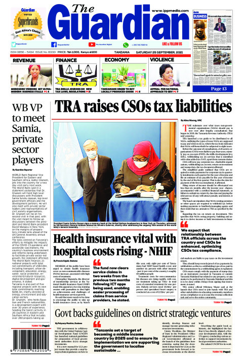 TRA raises CSOs tax liabilities | The Guardian