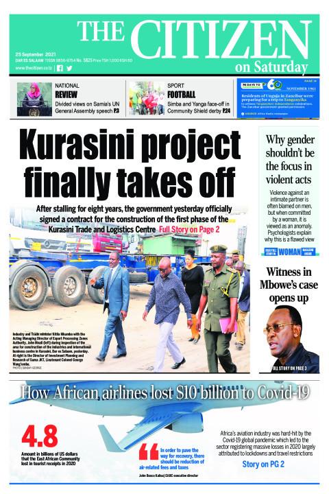 KURASINI PROJECT FINALLY TAKES OFF    The Citizen