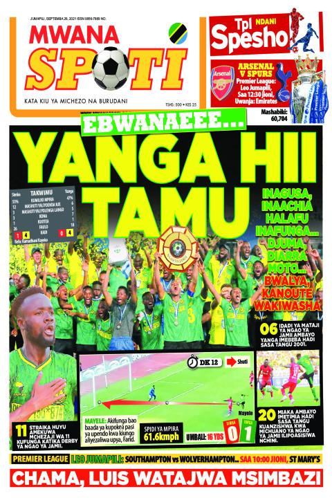 EBWANAEEE...YANGA HII TAMU    Mwanaspoti