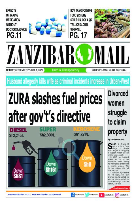 ZURA slashes fuel prices after gov't's directive | ZANZIBAR MAIL