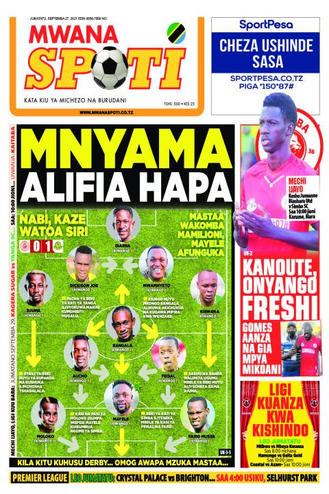 MNYAMA ALIFIA HAPA    Mwanaspoti