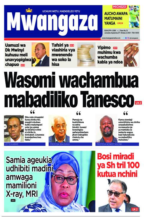 Wasomi wachambua mabadiliko Tanesco | Mwangaza