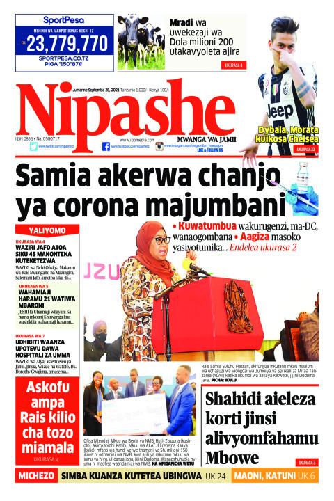 Samia akerwa chanjo ya corona majumbani | Nipashe