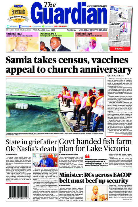 Samia takes census, vaccines appeal to church anniversary | The Guardian