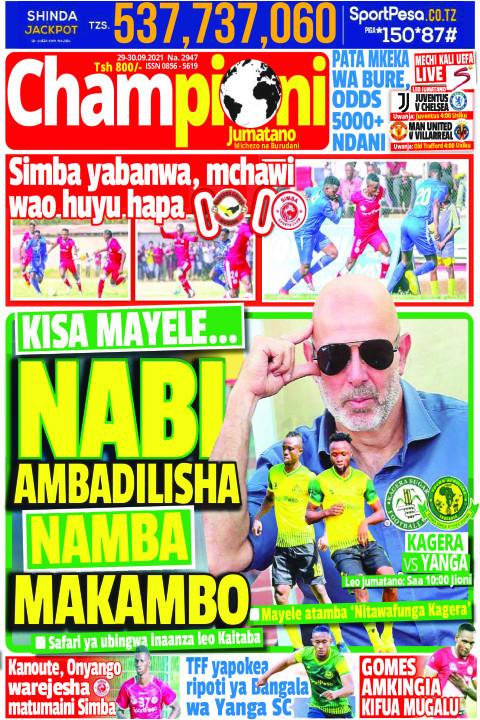 NABI AMBADILISHA NAMBA MAKAMBO | Champion Jumatano