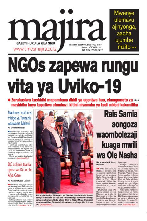 NGOs zapewa rungu vita ya UVIKO-19 | MAJIRA