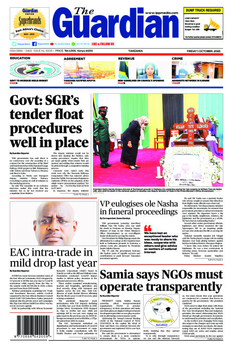 Govt: SGR's tender float procedures well in place | The Guardian