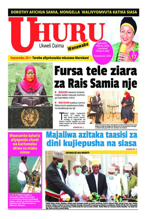 Fursa tele ziara za Rais Samia nje | Uhuru