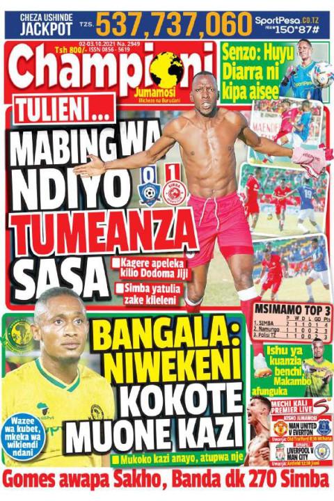 MABINGWA NDIYO TUMEANZA SASA | Champion Jumamosi