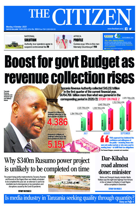 BOOST FOR GOVT BUDGET AS REVENUE COLLECTION RISES  | The Citizen
