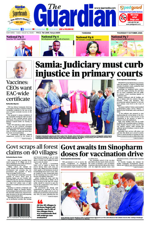 Samia: Judiciary must curb injustice in primary courts | The Guardian