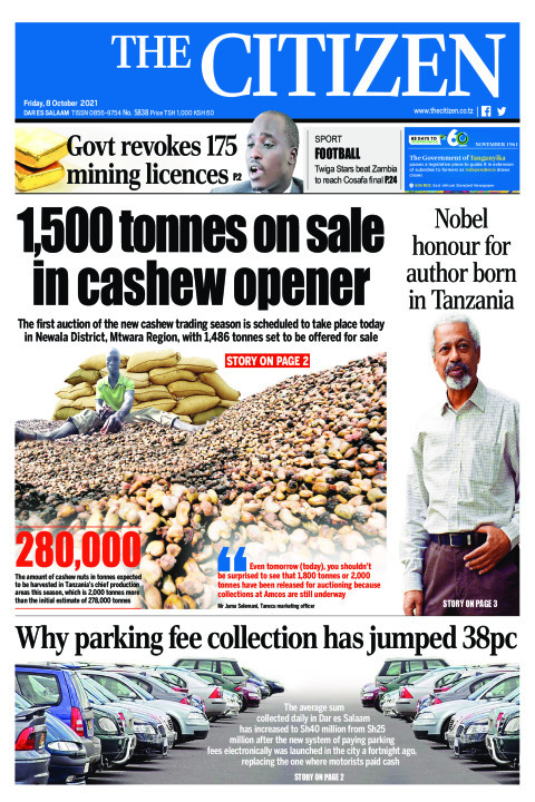 1,500 TONNES ON SALE IN CASHEW OPENER  | The Citizen