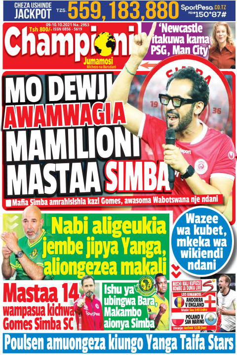MO DEWJI AWAMWAGIA MAMILIONI MASTAA SIMBA | Champion Jumamosi