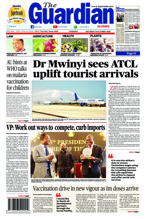Dr Mwinyi sees ATCL uplift tourist arrivals | The Guardian