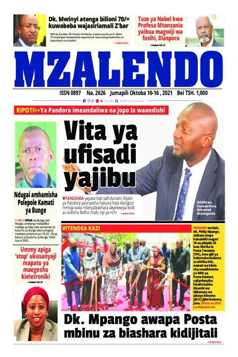 Vita ya ufisadi yajibu | Mzalendo