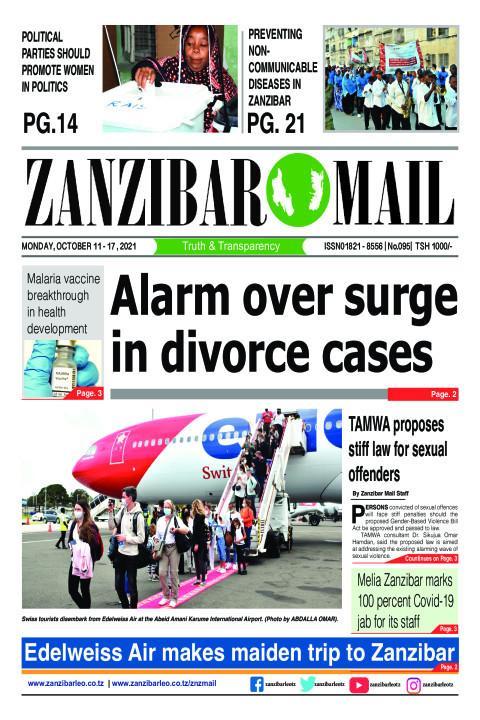 Alarm over surge in divorce cases | ZANZIBAR MAIL