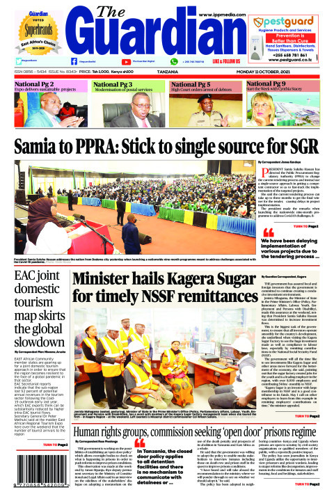 Samia to PPRA: Stick to single source for SGR | The Guardian