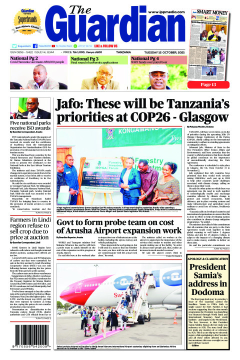 Jafo: These will be Tanzania's priorities at COP26 - Glasgow | The Guardian