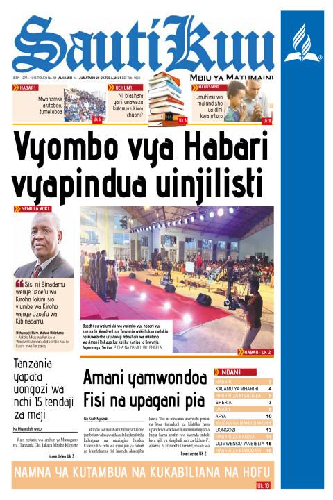 VYOMBO VYA HABARI VYAPINDUA UINJILISTI | Sauti Kuu Newspaper