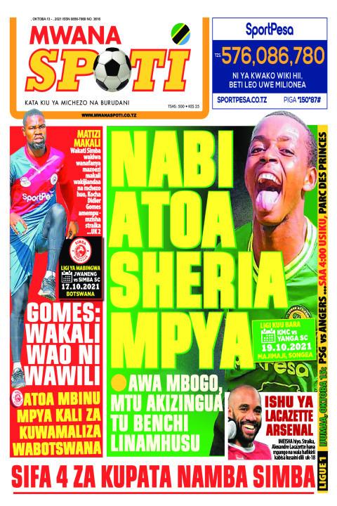 NABI ATOA SHERIA MPYA  | Mwanaspoti
