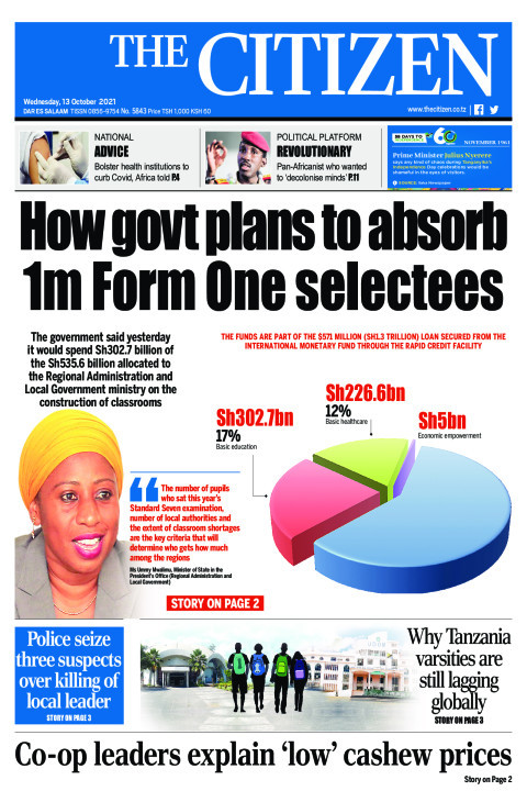 HOW GOVT PLANS TO ABSORB 1M FORM ONE SELECTEES  | The Citizen