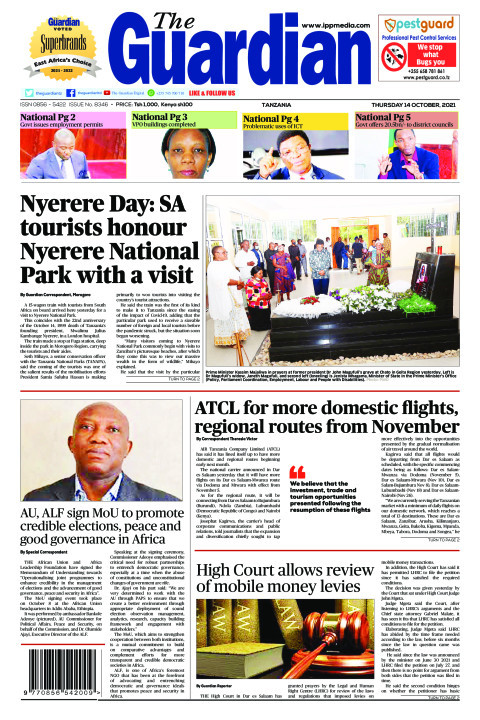 Nyerere Day: SA tourists honour Nyerere National Park with v | The Guardian