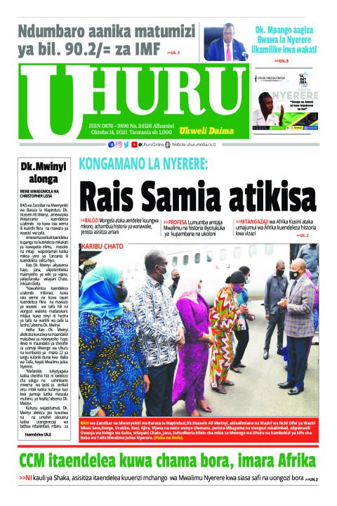 Rais Samia atikisa | Uhuru