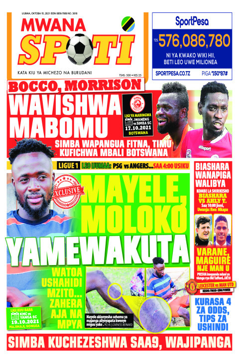 BOCCO,MORRISON WAVISHWA MABOMU,MAYELE MOLOKO YAMEWAKUTA  | Mwanaspoti